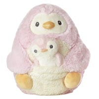 """8"""" MOMMY & BABY PENGUIN PINK picture"""