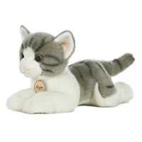 "11"" GREY TABBY CAT - MEDIUM picture"