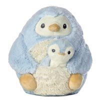 """8"""" MOMMY & BABY PENGUIN BLUE picture"""