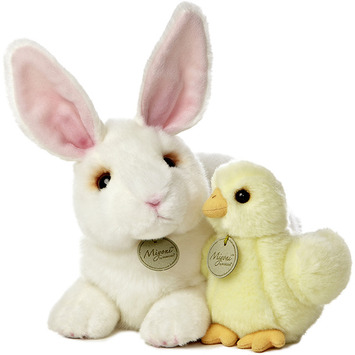 "12"" RABBIT & CHICK picture"