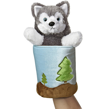 """11"""" WOLF POP UP PUPPET picture"""