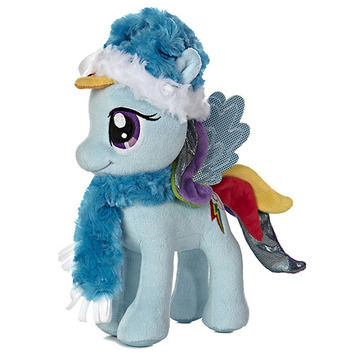 """10"""" RAINBOW DASH WITH FUZZY HAT & SCARF picture"""