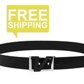Italian Leather Belt - Black