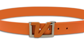 Italian Leather Belt - Orange