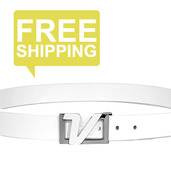 Italian Leather Belt - White
