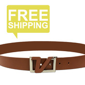 Italian Leather Belt - Brown