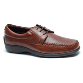 Malta Comfort Moc Toe Oxford in Walnut Leather