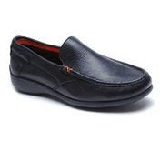 Sterling Driver Style Slip On in Tumbled Black Leather