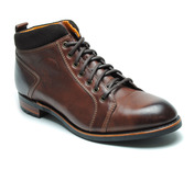Dundarg Lace to Toe Boot in Rich Brown Leather