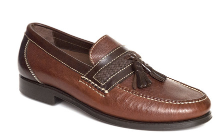 Fairbanks Tassel Loafer in Walnut Leather picture
