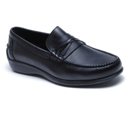 Truman Beef Roll Loafer in Black Leather picture