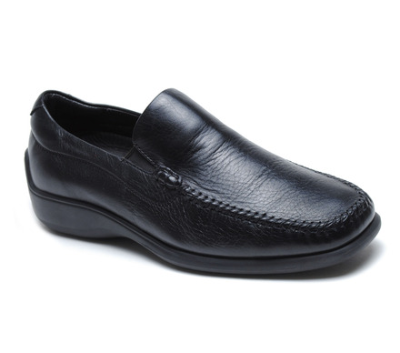 Rome Venetian Comfort Slip On in Black Leather picture