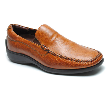 Rome Venetian Comfort Slip On in Maple Leather picture