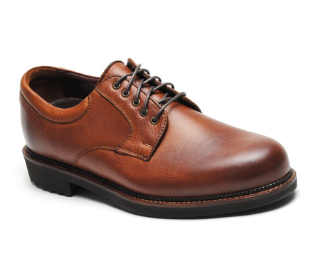 Wynne Comfort Oxford in Worn Saddle Leather