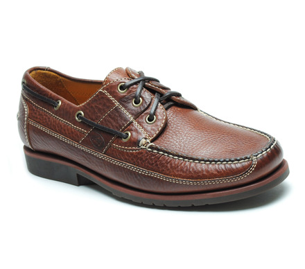 Bridgeport Comfort Boat Shoe in Tan Leather