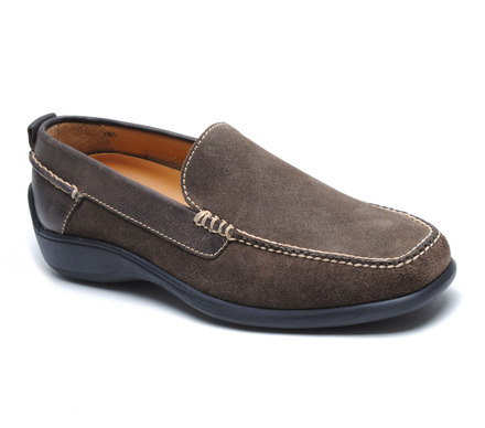 Salerno Taupe Suede Venetian Loafer picture
