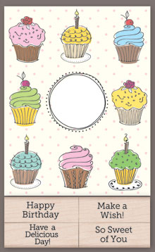 Cupcake Cards With Messages picture