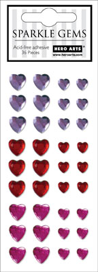 Sparkle Gems Hearts picture