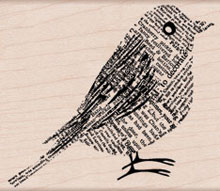 Newsprint Bird picture
