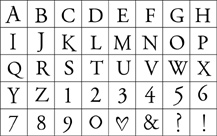 Printer'S Type Alphabet picture