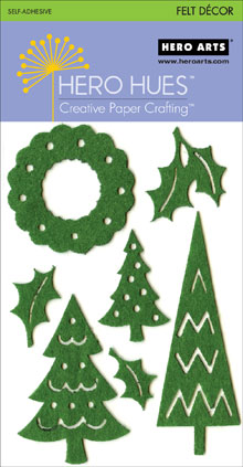 Green Christmas Adhesive Felt picture