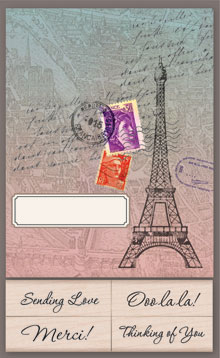Eiffel Tower Cards With Messages picture