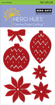 Red Christmas Adhesive Felt picture