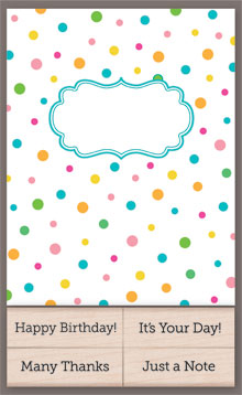Polka Dot Cards With Messages picture