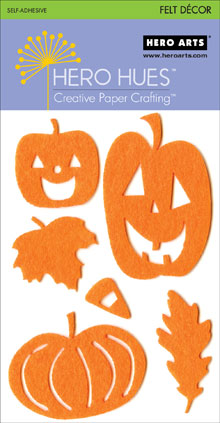 Orange Halloween Adhesive Felt picture