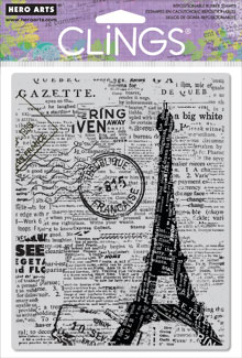 Newspaper Eiffel Tower picture