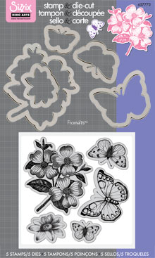Antique Flowers And Butterflies picture