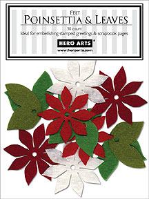 Felt Poinsettia And Leaves picture