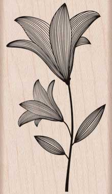 Etched Flower With Stem picture