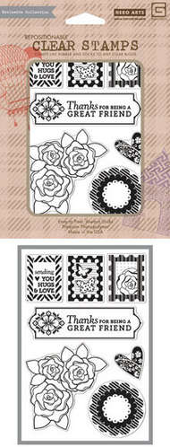 Pattern Hearts And Flowers picture