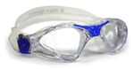 Kayenne™ Small Fit - Clear Lens - Translucent Frame with Blue Accents