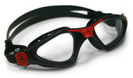 Kayenne™ Regular Fit - Clear Lens - Black Frame with Red Accents