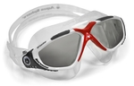 Vista™ - Smoke Lens - White Frame with Gray and Red Accents