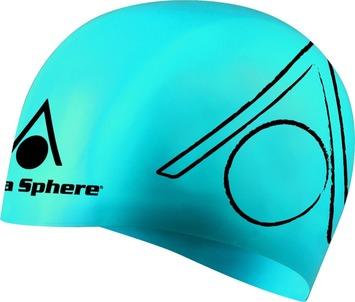Tri Silicone Swim Cap - Blue picture