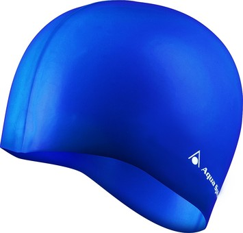 Classic Silicone Swim Cap - Blue picture