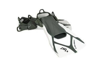 Zip VX Fin - White & Grey - Medium (6.5-9.5) picture