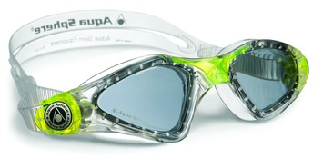 Kayenne™ Jr - Blue Lens - Trans Frame with Trans Lime Accents picture