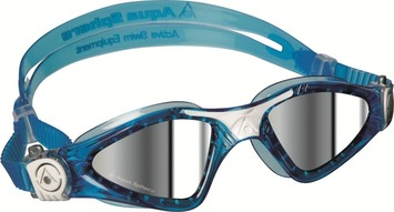 Kayenne™ Small Fit - Mirrored Lens - White/Aqua Frame picture