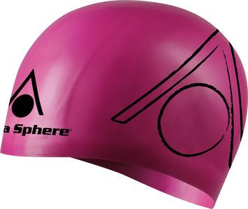 Tri Silicone Swim Cap - Pink picture