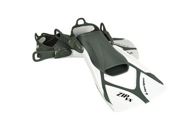 Zip VX Fin - White & Grey - Large (10-13) picture