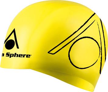 Tri Silicone Swim Cap - Yellow picture