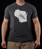 Onyx State T-Shirt Wisconsin Large