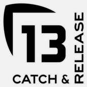 13 Catch and Release Decal Small BLACK