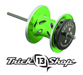 Trickshop Lime/Silver Spool Assembly