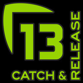 13 Catch and Release Decal Small GREEN