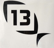 13 Black Decal Medium